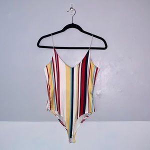 NEW Gaze Bodysuit Stripes Small